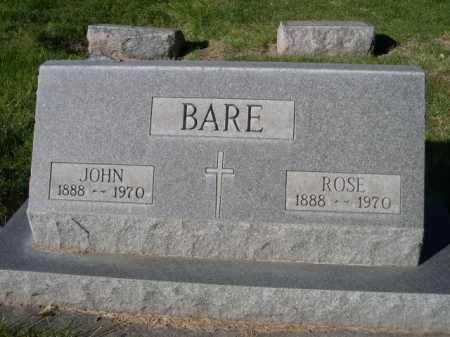 BARE, ROSE - Dawes County, Nebraska | ROSE BARE - Nebraska Gravestone Photos