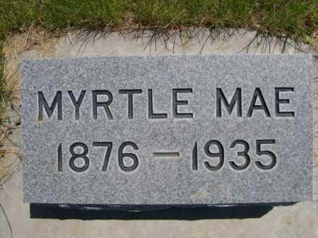 BARE, MYRTLE MAE - Dawes County, Nebraska | MYRTLE MAE BARE - Nebraska Gravestone Photos