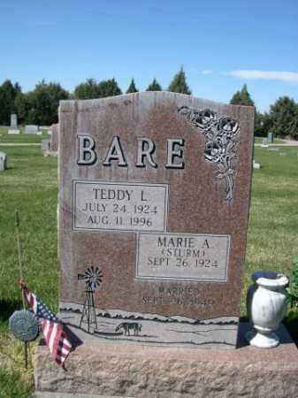BARE, TEDDY L. - Dawes County, Nebraska | TEDDY L. BARE - Nebraska Gravestone Photos