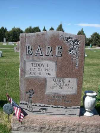 STRUM BARE, MARIE A. - Dawes County, Nebraska | MARIE A. STRUM BARE - Nebraska Gravestone Photos