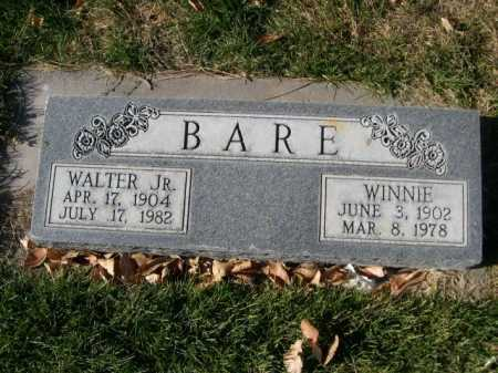 BARE, WALTER JR. - Dawes County, Nebraska | WALTER JR. BARE - Nebraska Gravestone Photos