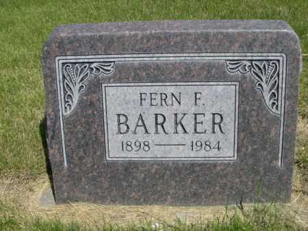 BARKER, FERN F. - Dawes County, Nebraska   FERN F. BARKER - Nebraska Gravestone Photos