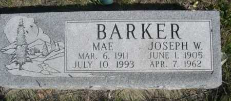 BARKER, MAE - Dawes County, Nebraska | MAE BARKER - Nebraska Gravestone Photos
