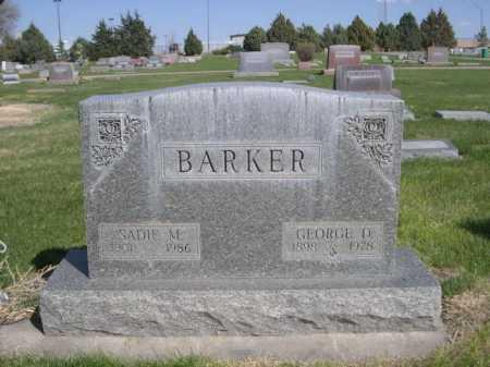 BARKER, SADIE M. - Dawes County, Nebraska | SADIE M. BARKER - Nebraska Gravestone Photos