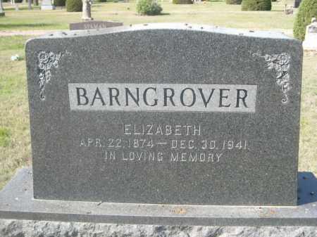 BARNGROVER, ELIZABETH - Dawes County, Nebraska | ELIZABETH BARNGROVER - Nebraska Gravestone Photos
