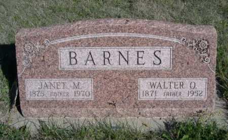 BARNES, WALTER O. - Dawes County, Nebraska   WALTER O. BARNES - Nebraska Gravestone Photos