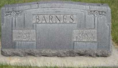 BARNES, JOHN A. - Dawes County, Nebraska | JOHN A. BARNES - Nebraska Gravestone Photos