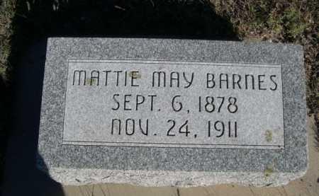 BARNES, MATTIE MAY - Dawes County, Nebraska | MATTIE MAY BARNES - Nebraska Gravestone Photos