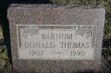 BARNUM, DONALD THOMAS - Dawes County, Nebraska | DONALD THOMAS BARNUM - Nebraska Gravestone Photos