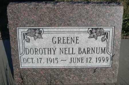 BARNUM, DOROTHY NELL - Dawes County, Nebraska | DOROTHY NELL BARNUM - Nebraska Gravestone Photos