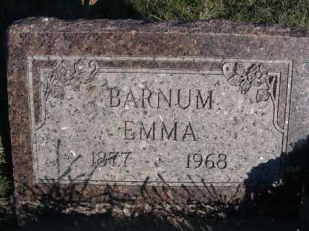 BARNUM, EMMA - Dawes County, Nebraska | EMMA BARNUM - Nebraska Gravestone Photos