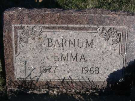 BARNUM, EMMA - Dawes County, Nebraska   EMMA BARNUM - Nebraska Gravestone Photos