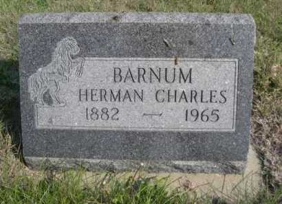 BARNUM, HERMAN CHARLES - Dawes County, Nebraska   HERMAN CHARLES BARNUM - Nebraska Gravestone Photos