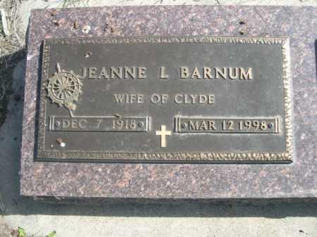 BARNUM, JEANNE L. - Dawes County, Nebraska | JEANNE L. BARNUM - Nebraska Gravestone Photos