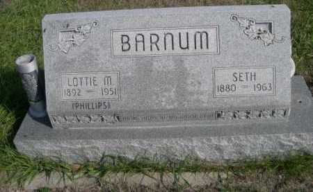 BARNUM, SETH - Dawes County, Nebraska | SETH BARNUM - Nebraska Gravestone Photos