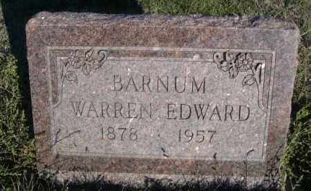 BARNUM, WARREN EDWARD - Dawes County, Nebraska | WARREN EDWARD BARNUM - Nebraska Gravestone Photos