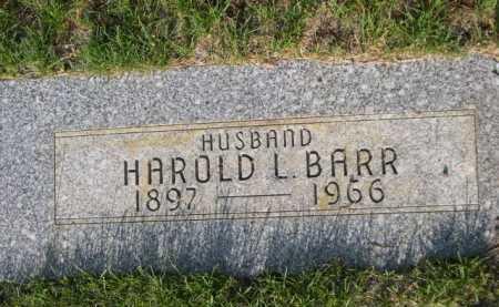 BARR, HAROLD L. - Dawes County, Nebraska | HAROLD L. BARR - Nebraska Gravestone Photos