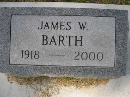 BARTH, JAMES W. - Dawes County, Nebraska | JAMES W. BARTH - Nebraska Gravestone Photos