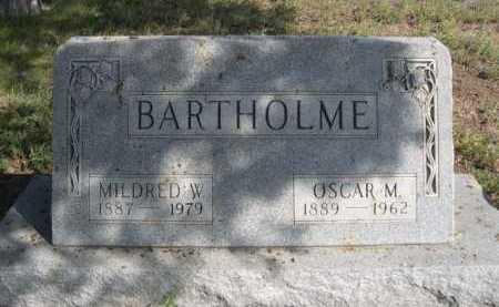 BARTHOLME, MILDRED W. - Dawes County, Nebraska | MILDRED W. BARTHOLME - Nebraska Gravestone Photos