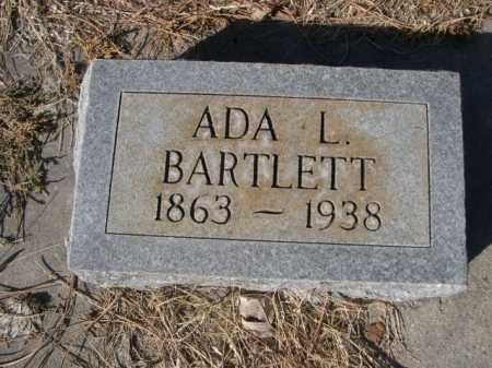BARTLETT, ADA L. - Dawes County, Nebraska | ADA L. BARTLETT - Nebraska Gravestone Photos