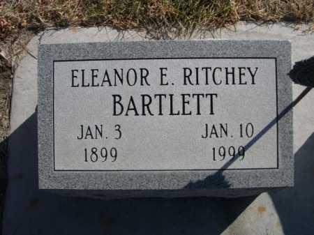 BARTLETT, ELEANOR E. RITCHEY - Dawes County, Nebraska | ELEANOR E. RITCHEY BARTLETT - Nebraska Gravestone Photos