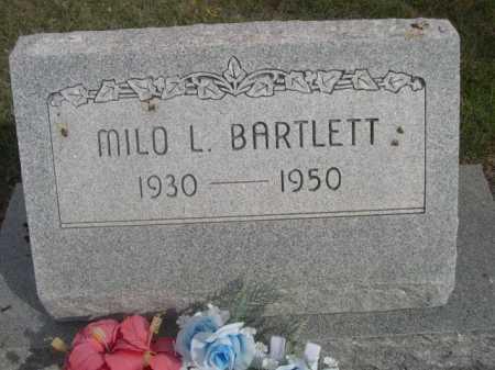 BARTLETT, MILO L. - Dawes County, Nebraska | MILO L. BARTLETT - Nebraska Gravestone Photos