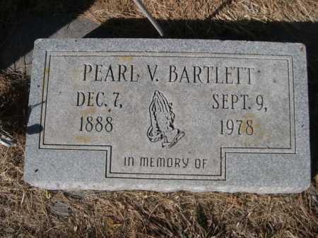 BARTLETT, PEARL V. - Dawes County, Nebraska | PEARL V. BARTLETT - Nebraska Gravestone Photos
