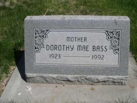 BASS, DOROTHY MAE - Dawes County, Nebraska | DOROTHY MAE BASS - Nebraska Gravestone Photos