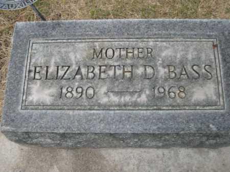 BASS, ELIZABETH D. - Dawes County, Nebraska | ELIZABETH D. BASS - Nebraska Gravestone Photos