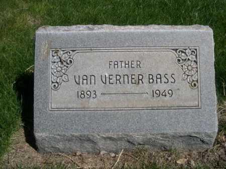 BASS, VAN VERNER - Dawes County, Nebraska | VAN VERNER BASS - Nebraska Gravestone Photos