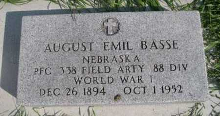 BASSE, AUGUST EMIL - Dawes County, Nebraska | AUGUST EMIL BASSE - Nebraska Gravestone Photos