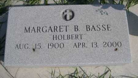 HOLBERT BASSE, MARGARET B. - Dawes County, Nebraska | MARGARET B. HOLBERT BASSE - Nebraska Gravestone Photos