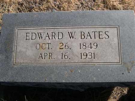 BATES, EDWARD W. - Dawes County, Nebraska   EDWARD W. BATES - Nebraska Gravestone Photos