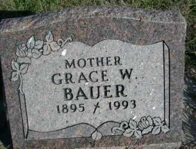 BAUER, GRACE W. - Dawes County, Nebraska   GRACE W. BAUER - Nebraska Gravestone Photos