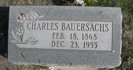 BAUERSACHS, CHARLES - Dawes County, Nebraska | CHARLES BAUERSACHS - Nebraska Gravestone Photos