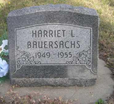 BAUERSACHS, HARRIET L. - Dawes County, Nebraska   HARRIET L. BAUERSACHS - Nebraska Gravestone Photos