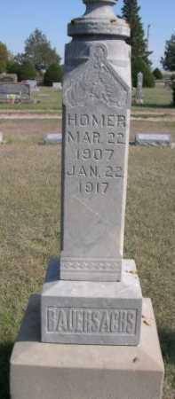 BAUERSACHS, HOMER - Dawes County, Nebraska | HOMER BAUERSACHS - Nebraska Gravestone Photos