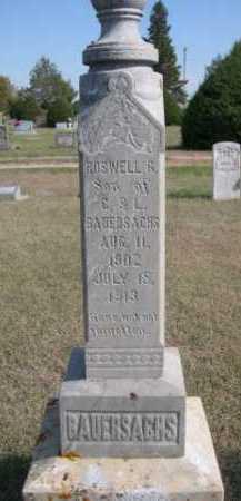 BAUERSACHS, ROSWELL G. - Dawes County, Nebraska | ROSWELL G. BAUERSACHS - Nebraska Gravestone Photos