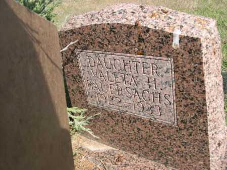 BAUERSACHS, VALETA H. - Dawes County, Nebraska | VALETA H. BAUERSACHS - Nebraska Gravestone Photos