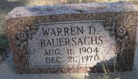 BAUERSACHS, WARREN D. - Dawes County, Nebraska | WARREN D. BAUERSACHS - Nebraska Gravestone Photos
