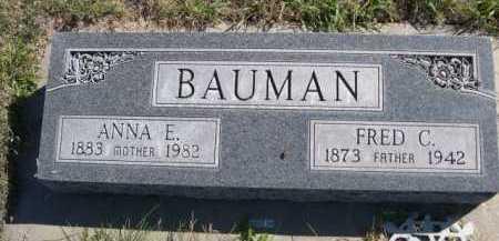 BAUMAN, ANNA E. - Dawes County, Nebraska | ANNA E. BAUMAN - Nebraska Gravestone Photos