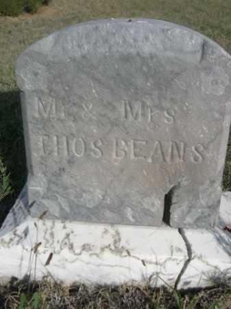 BEANS, THOS - Dawes County, Nebraska | THOS BEANS - Nebraska Gravestone Photos