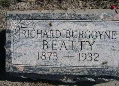 BEATTY, RICHARD BURGOYNE - Dawes County, Nebraska   RICHARD BURGOYNE BEATTY - Nebraska Gravestone Photos