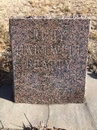 HARTWELL BEATTY, RUBY - Dawes County, Nebraska   RUBY HARTWELL BEATTY - Nebraska Gravestone Photos