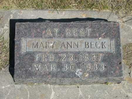 BECK, MARY ANN - Dawes County, Nebraska | MARY ANN BECK - Nebraska Gravestone Photos