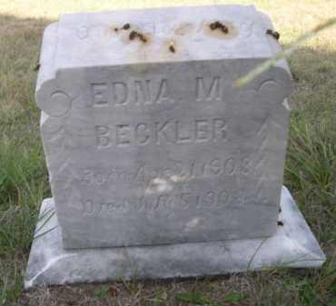 BECKLER, EDNA M. - Dawes County, Nebraska   EDNA M. BECKLER - Nebraska Gravestone Photos