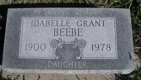 GRANT BEEBE, IDABELLE - Dawes County, Nebraska | IDABELLE GRANT BEEBE - Nebraska Gravestone Photos