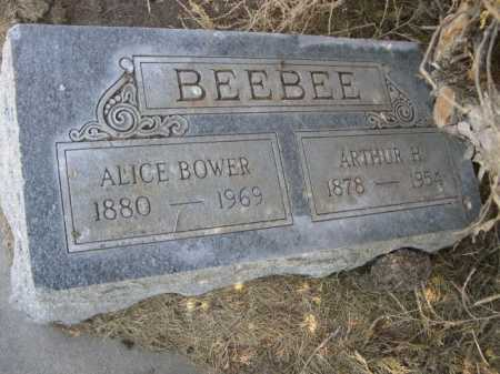 BOWER BEEBEE, ALICE - Dawes County, Nebraska | ALICE BOWER BEEBEE - Nebraska Gravestone Photos