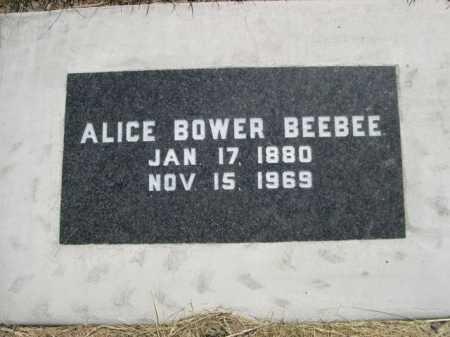 BOWER BEEBEE, ALICE - Dawes County, Nebraska | ALICE BOWER BEEBEE - Nebraska Gravestone Photos