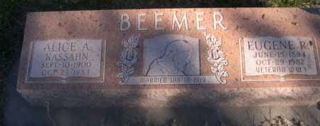 KASSAHN BEEMER, ALICE A. - Dawes County, Nebraska | ALICE A. KASSAHN BEEMER - Nebraska Gravestone Photos